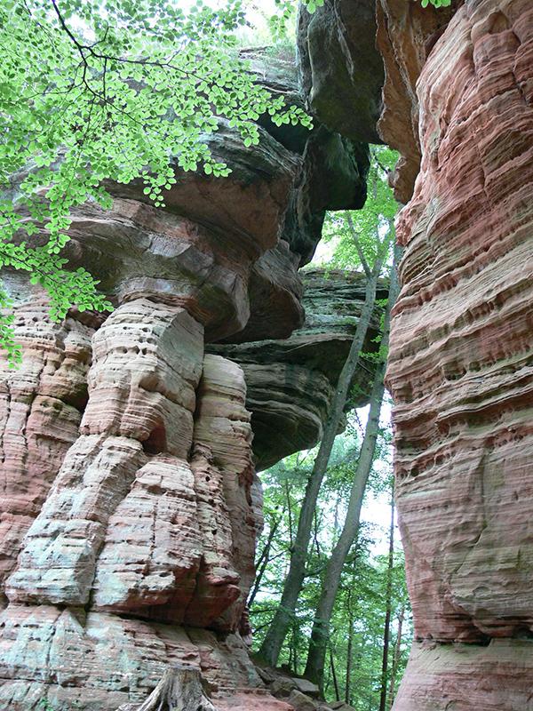 Felsen und Wanderungen